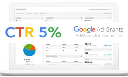 Google Ad Grant, CTR 5% con le nuove norme 2018
